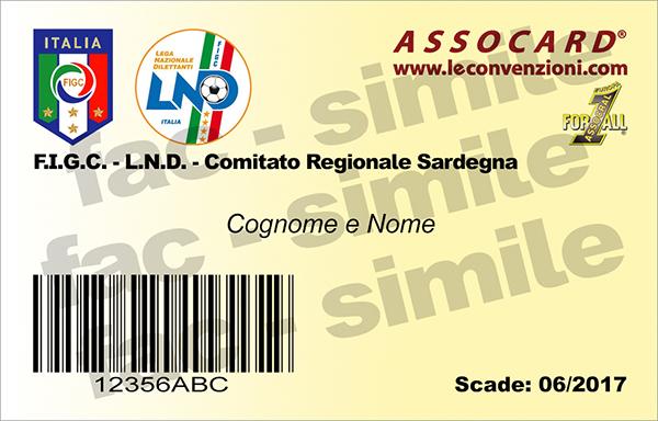L'ASSOCARD per gli iscritti alla FIGC-LND - Comitato Regionale Sardegna
