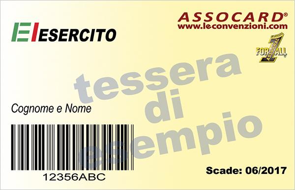 L'ASSOCARD per le convenzioni dell'Esercito Italiano