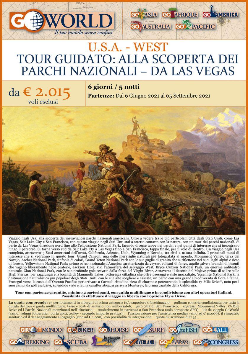 U.S.A. - WEST TOUR GUIDATO: ALLA SCOPERTA DEI PARCHI NAZIONALI – DA LAS VEGAS